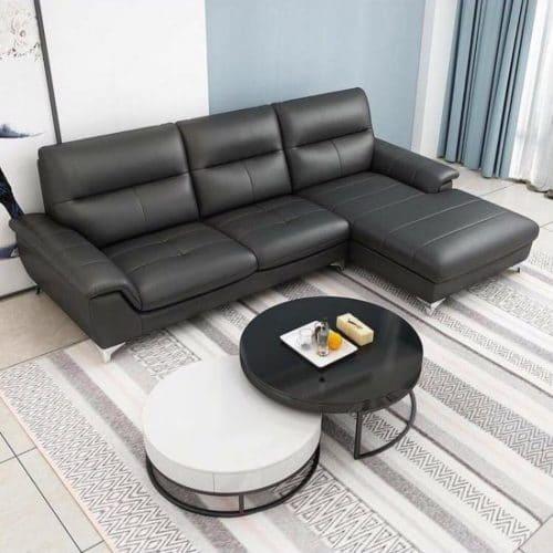 Sofa da màu đen L2