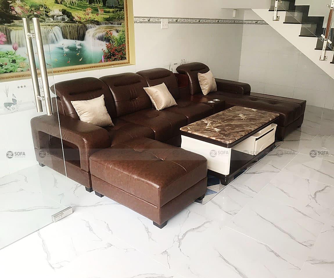 Hình ảnh bàn giao sofa cao cấp L59