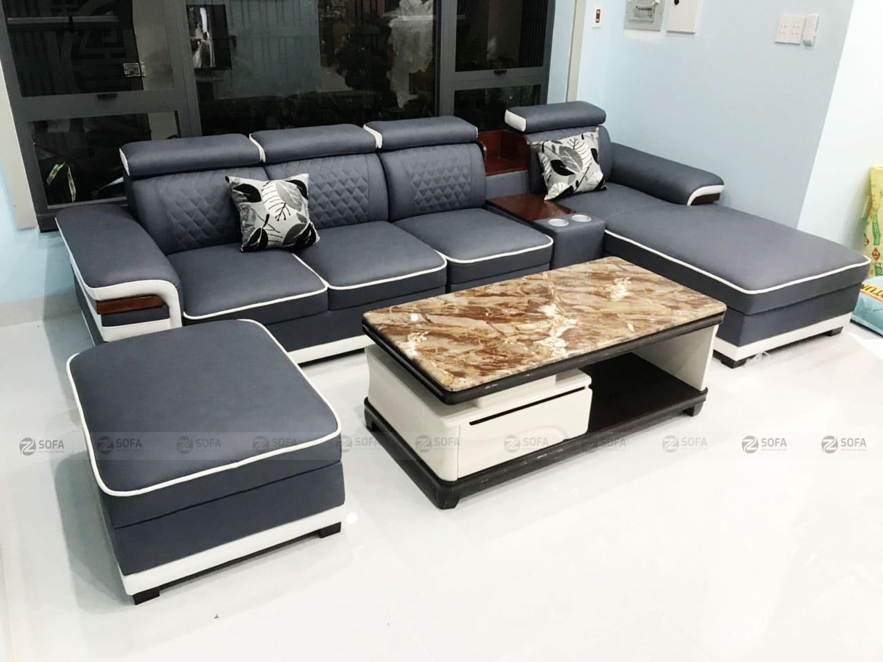 Hình ảnh bàn giao mẫu sofa cao cấp L61