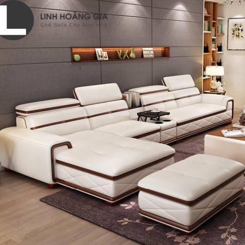 Sofa da cao cấp L11