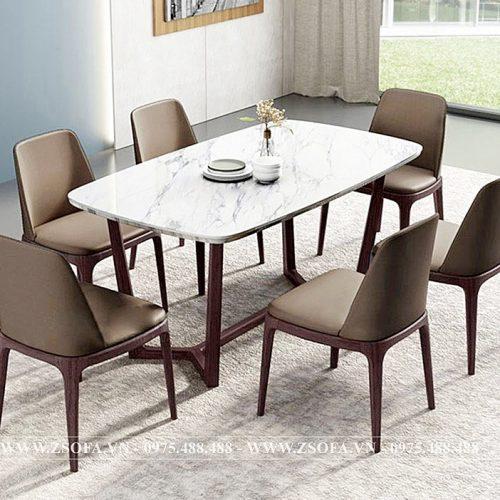 Bàn ghế ăn mặt đá Stone 6 ghế