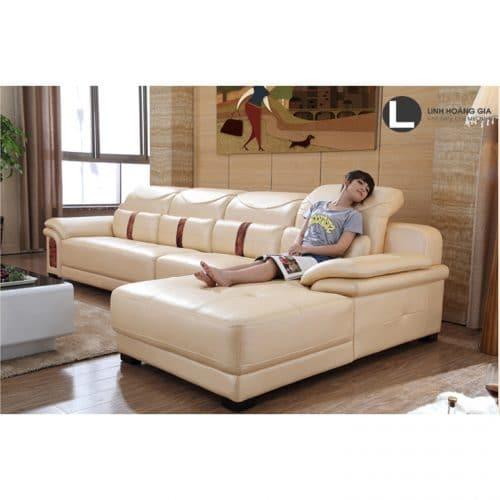 Sofa da cao cấp L36