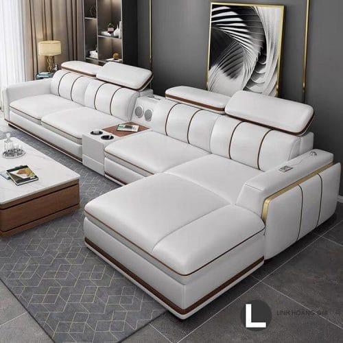 Sofa phòng khách lớn L64 ( màu trắng )