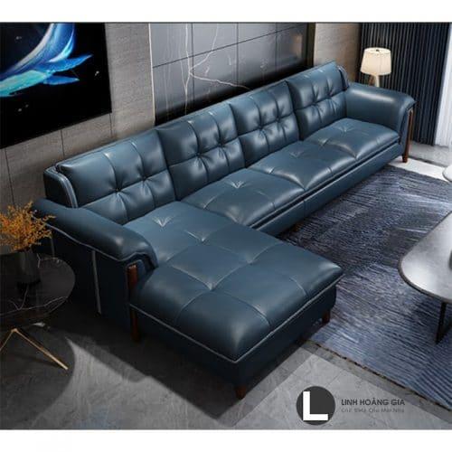 Ghế Sofa da L62 (Xanh)