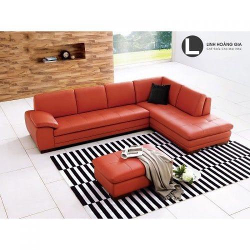 Sofa da màu đỏ L67