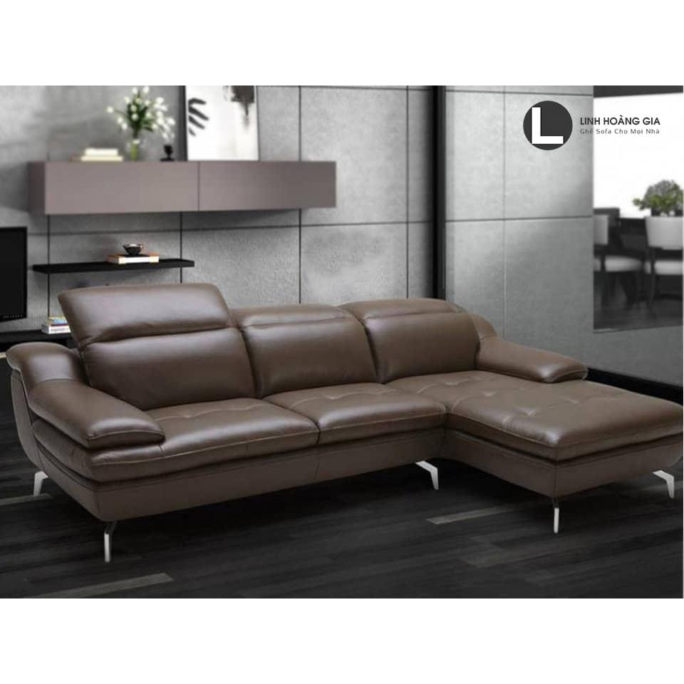 Sofa góc cao cấp L63 ( màu nâu )
