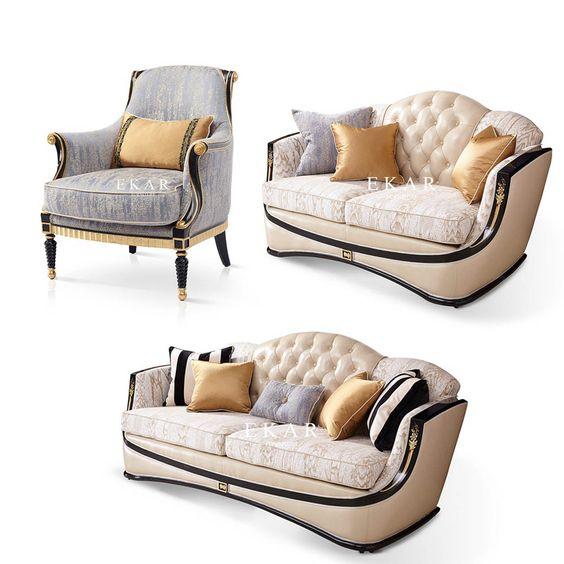Sofa Cổ Điển Mạ Vàng