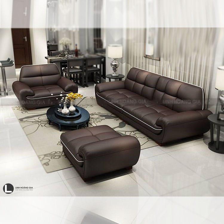 Bộ ghế sofa da cao cấp LHG-865