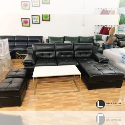 Bộ ghế sofa da cao cấp LHG-866