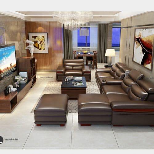 Bộ ghế sofa da cao cấp LHG-868