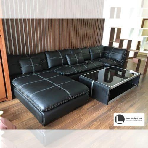 Bộ ghế sofa da bò thật LHG-869