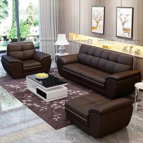 Bộ ghế sofa da công nghiệp LHG-871