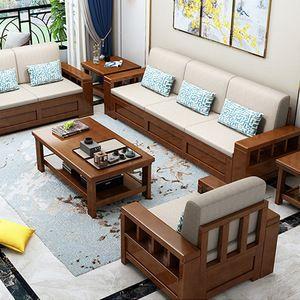 Sofa Gỗ Cho Phòng Khách Sang Trọng