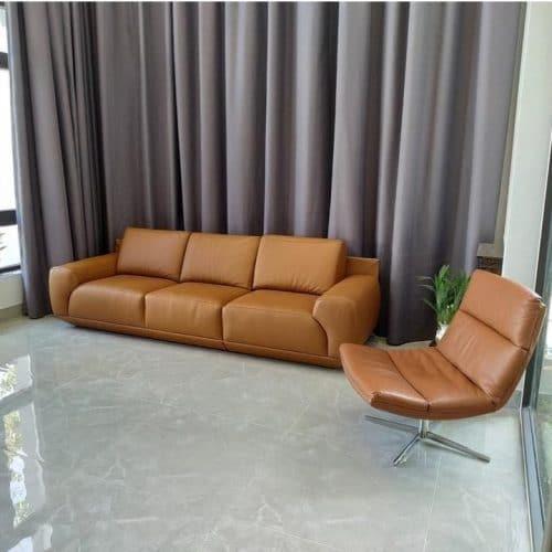 Sofa băng da thật ZL-183