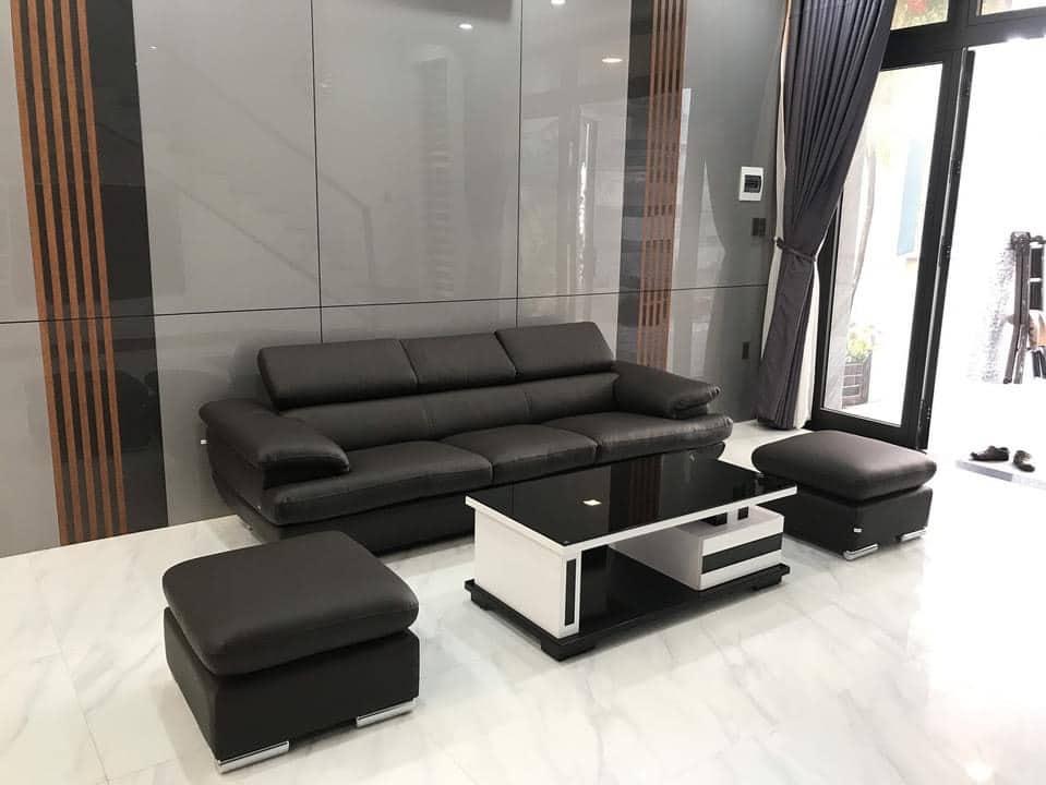 Sofa băng da cao cấp ZB-1818