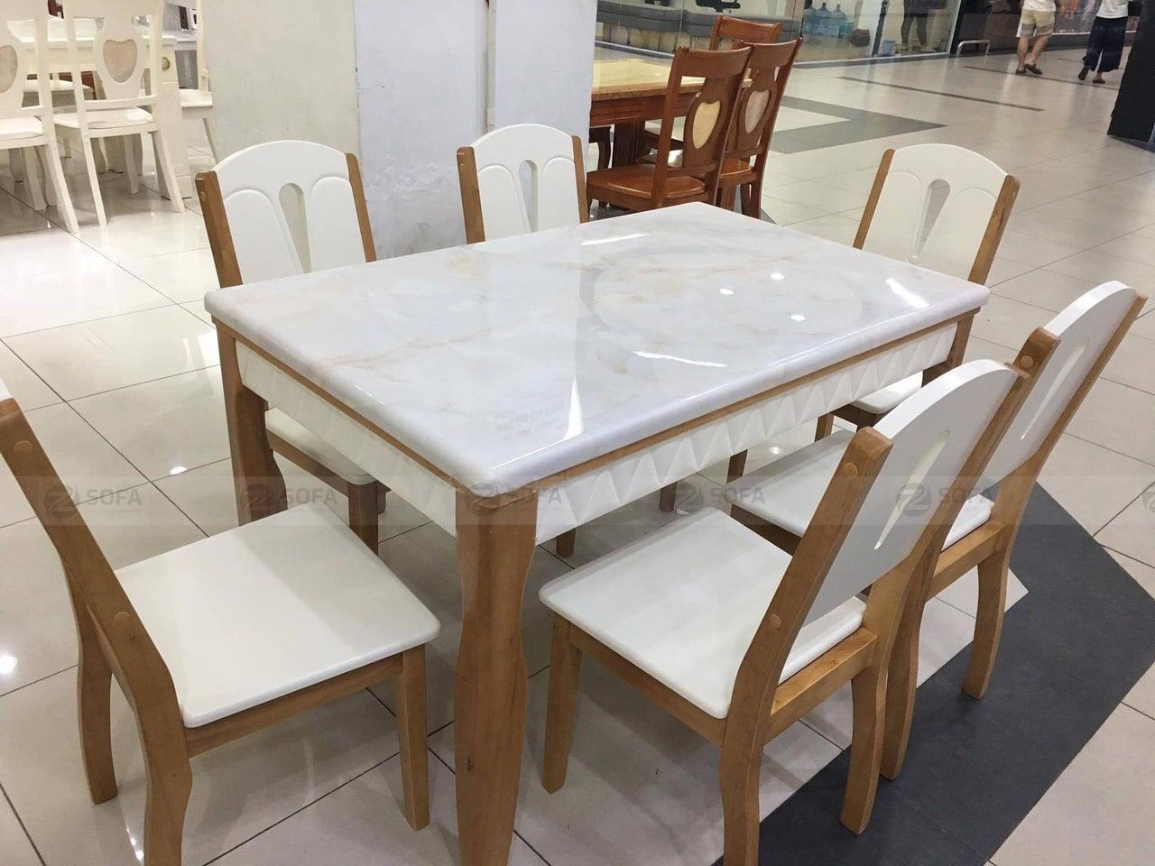 Bàn ghế ăn mặt đá ZA-168
