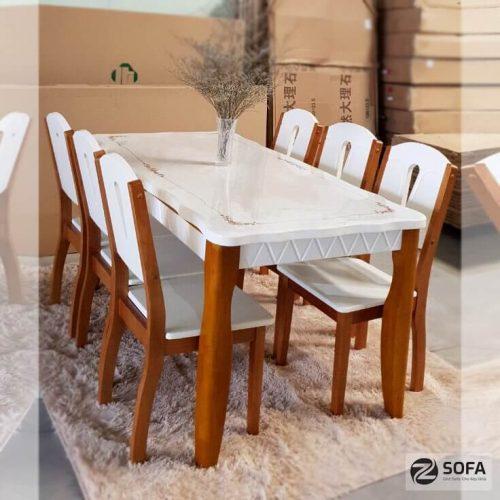 Bộ bàn ghế gỗ phòng ăn từ doanh nghiệp uy tín